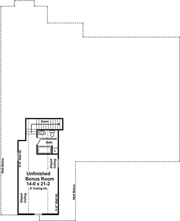 Country Floor Plan - Other Floor Plan Plan #21-385