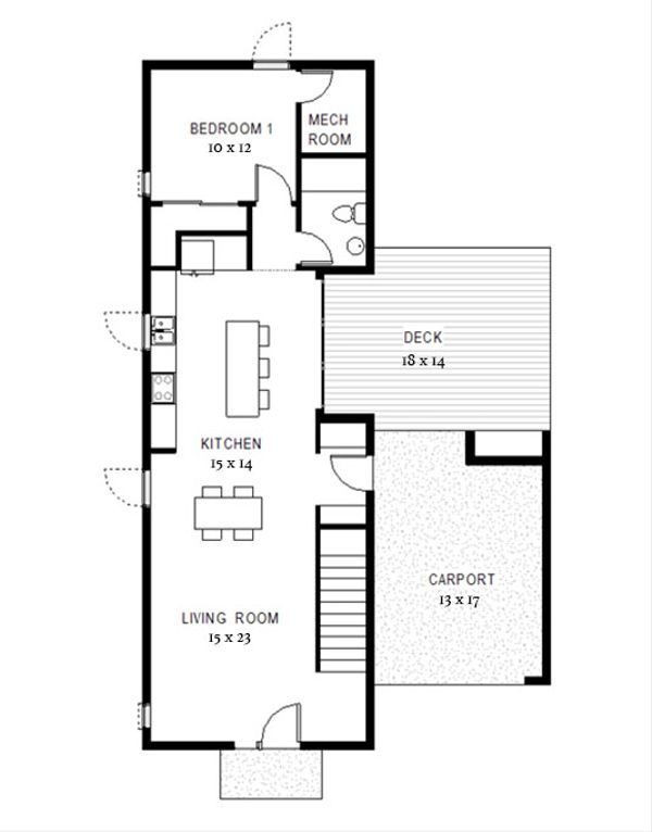 Modern Floor Plan - Main Floor Plan Plan #497-58