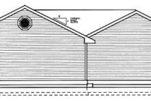 Home Plan - Traditional Exterior - Rear Elevation Plan #95-114