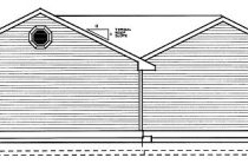 Traditional Exterior - Rear Elevation Plan #95-114 - Houseplans.com