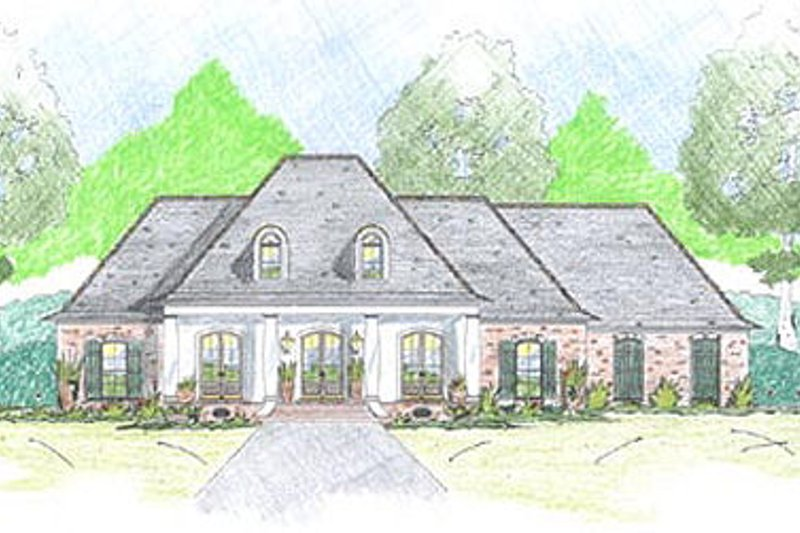 European Exterior - Front Elevation Plan #36-466 - Houseplans.com