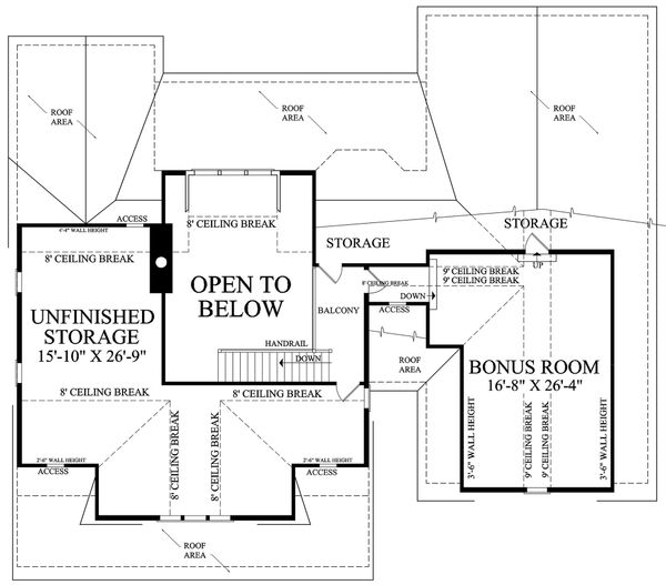 Country Floor Plan - Upper Floor Plan Plan #137-296