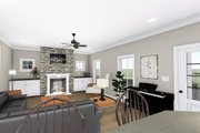 Farmhouse Style House Plan - 2 Beds 1 Baths 1520 Sq/Ft Plan #44-233 Interior - Family Room