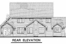 House Blueprint - Traditional Exterior - Rear Elevation Plan #18-277