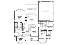 Traditional Floor Plan - Main Floor Plan Plan #56-540