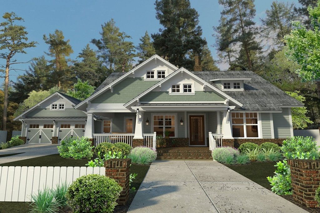 Craftsman style house plan 3 beds 2 baths 1879 sq ft for Craftsman house plans 3 car garage