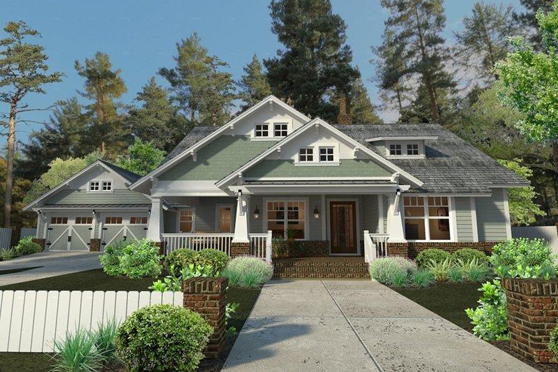 Craftsman Exterior - Front Elevation Plan #120-249