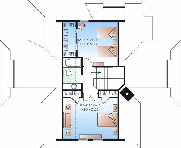 Country Floor Plan - Upper Floor Plan #23-849