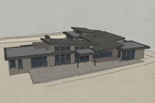 House Design - Contemporary Exterior - Front Elevation Plan #892-9