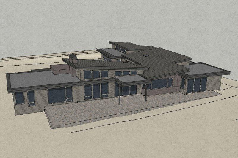 Contemporary Exterior - Front Elevation Plan #892-9 - Houseplans.com