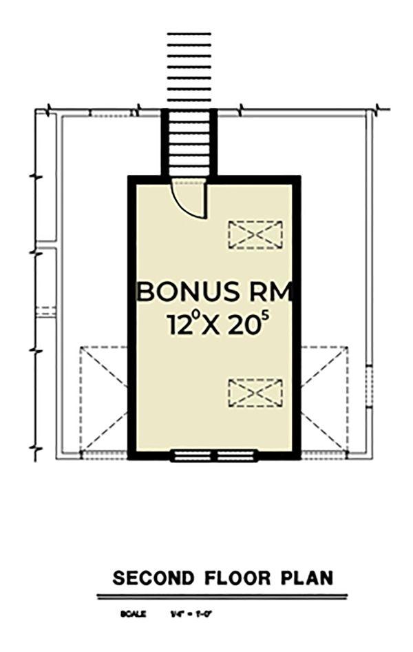 Country Floor Plan - Upper Floor Plan #1070-37
