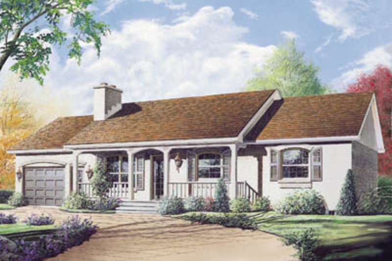 Farmhouse Exterior - Front Elevation Plan #23-122 - Houseplans.com