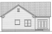 Colonial Style House Plan - 3 Beds 2 Baths 1728 Sq/Ft Plan #413-789 Exterior - Rear Elevation