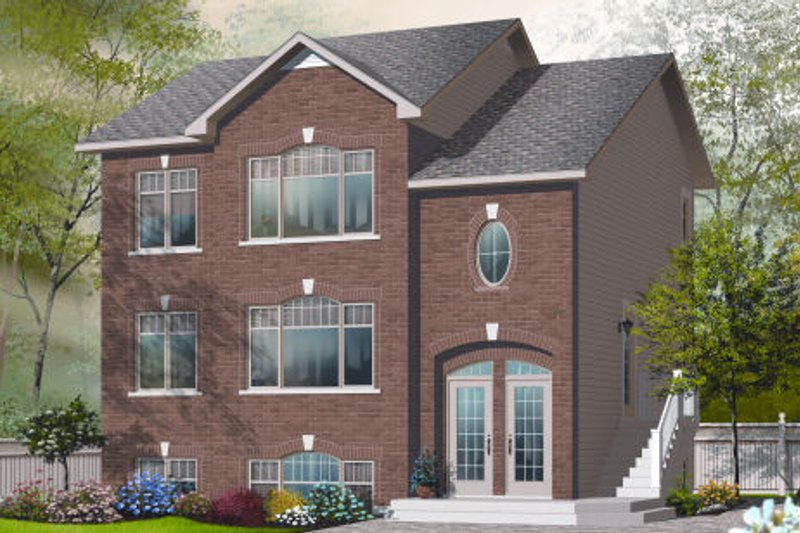 Traditional Exterior - Front Elevation Plan #23-2196
