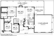 Ranch Style House Plan - 3 Beds 2.5 Baths 1807 Sq/Ft Plan #70-1191 Floor Plan - Main Floor Plan