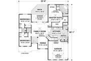 Traditional Style House Plan - 3 Beds 2 Baths 1800 Sq/Ft Plan #56-635 Floor Plan - Main Floor