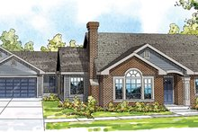 Dream House Plan - Traditional Exterior - Front Elevation Plan #124-857