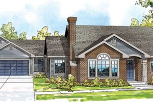 Traditional Exterior - Front Elevation Plan #124-857