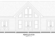 Home Plan - Traditional Exterior - Rear Elevation Plan #932-406