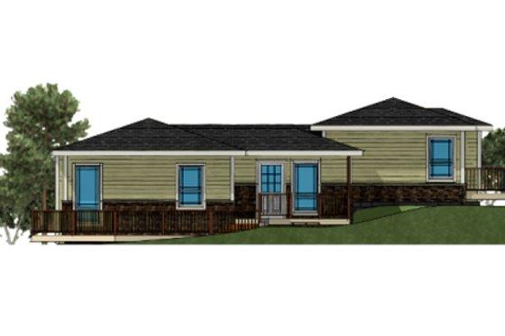 Craftsman Exterior - Front Elevation Plan #504-3