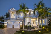 Beach Style House Plan - 3 Beds 4 Baths 5168 Sq/Ft Plan #27-517 Exterior - Front Elevation