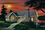 Traditional Style House Plan - 3 Beds 2 Baths 1403 Sq/Ft Plan #57-157 Exterior - Front Elevation