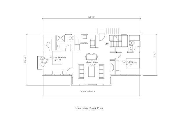 Contemporary Floor Plan - Main Floor Plan Plan #481-11