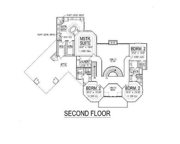 European Floor Plan - Upper Floor Plan Plan #458-9