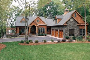 Dream House Plan - Craftsman Exterior - Front Elevation Plan #453-22