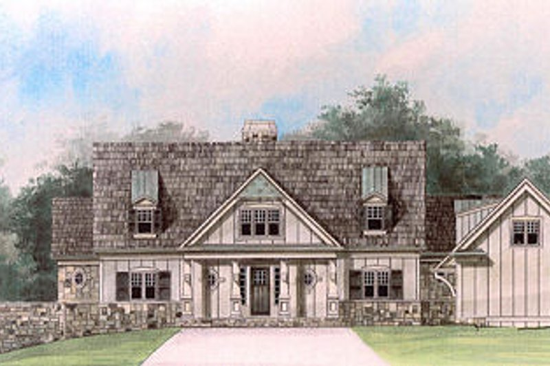 Craftsman Exterior - Front Elevation Plan #119-248 - Houseplans.com