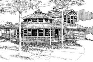 Exterior - Front Elevation Plan #303-430