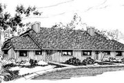 Traditional Style House Plan - 3 Beds 1.5 Baths 5076 Sq/Ft Plan #303-245 Exterior - Front Elevation