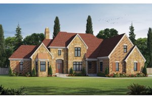 European Exterior - Front Elevation Plan #20-2388