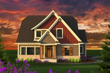 Craftsman Exterior - Front Elevation Plan #70-1229