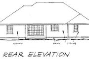 Country Style House Plan - 4 Beds 2 Baths 1539 Sq/Ft Plan #20-193 Exterior - Rear Elevation