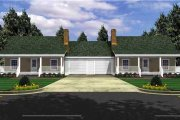 Ranch Style House Plan - 1 Beds 1 Baths 1200 Sq/Ft Plan #21-128 Exterior - Front Elevation
