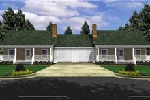 Dream House Plan - Ranch Exterior - Front Elevation Plan #21-128
