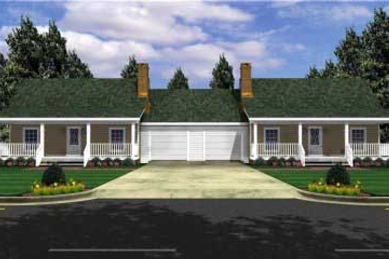 Ranch Exterior - Front Elevation Plan #21-128