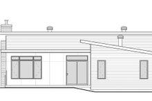 Contemporary Exterior - Rear Elevation Plan #23-2314