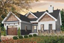 Craftsman Exterior - Front Elevation Plan #23-2692
