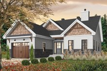 House Plan Design - Craftsman Exterior - Front Elevation Plan #23-2692