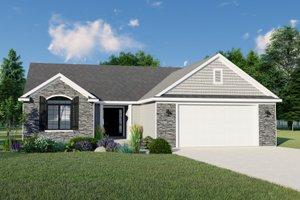 Craftsman Exterior - Front Elevation Plan #1064-61