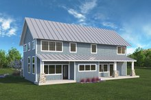Farmhouse Exterior - Rear Elevation Plan #1068-3