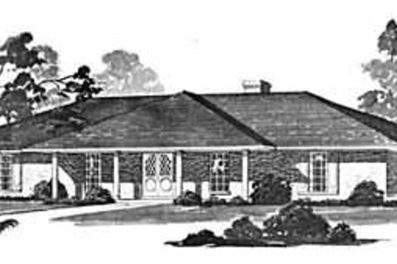 Dream House Plan - Ranch Exterior - Front Elevation Plan #36-393