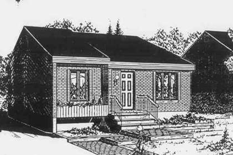 Contemporary Style House Plan - 2 Beds 1 Baths 868 Sq/Ft Plan #25-4252 Exterior - Front Elevation