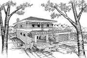 Prairie Style House Plan - 3 Beds 2.5 Baths 2316 Sq/Ft Plan #50-213 Exterior - Front Elevation