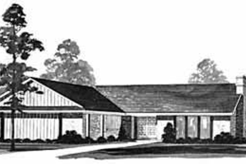 Ranch Exterior - Front Elevation Plan #36-381