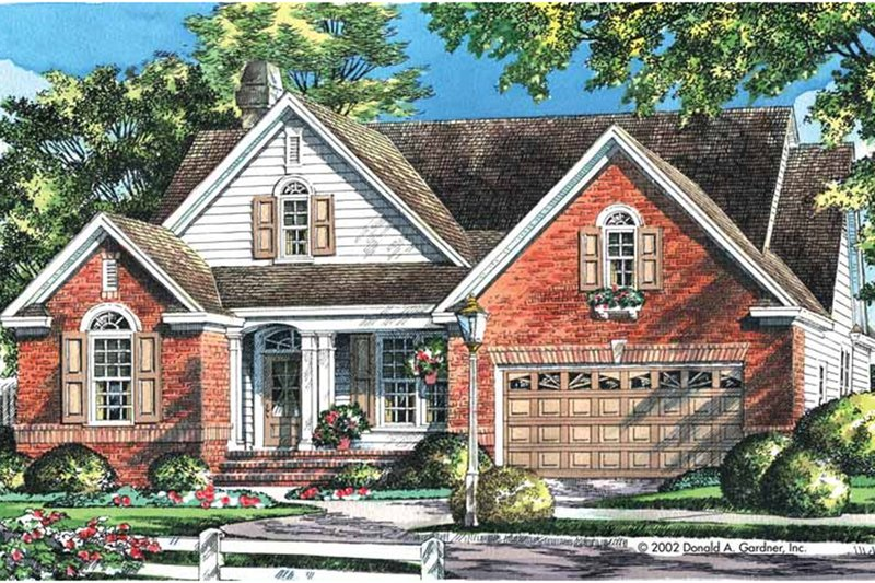 Traditional Exterior - Front Elevation Plan #929-42 - Houseplans.com