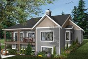 Traditional Style House Plan - 4 Beds 3.5 Baths 3380 Sq/Ft Plan #23-2534 Exterior - Rear Elevation