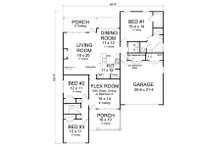 Traditional Floor Plan - Main Floor Plan Plan #513-2080